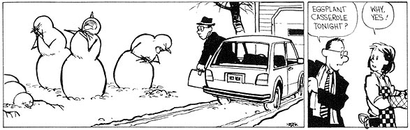 Calvin And Hobbes Snowmen Car Accident